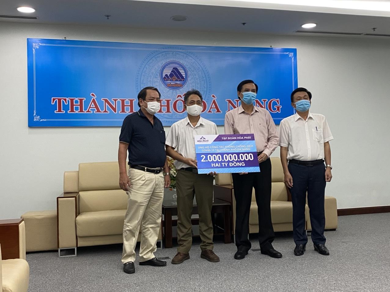 Hòa Phát ủng hộ Đà Nẵng, Quảng Nam và Quảng Ngãi 6 tỷ đồng phòng chống Covid-19