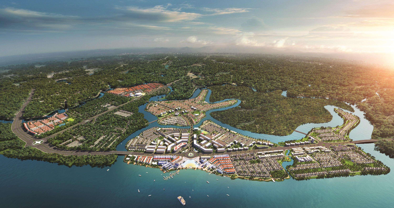 Phối cảnh khu đô thị sinh thái thông minh Aqua City quy mô gần 1.000ha phía Đông TP.HCM.