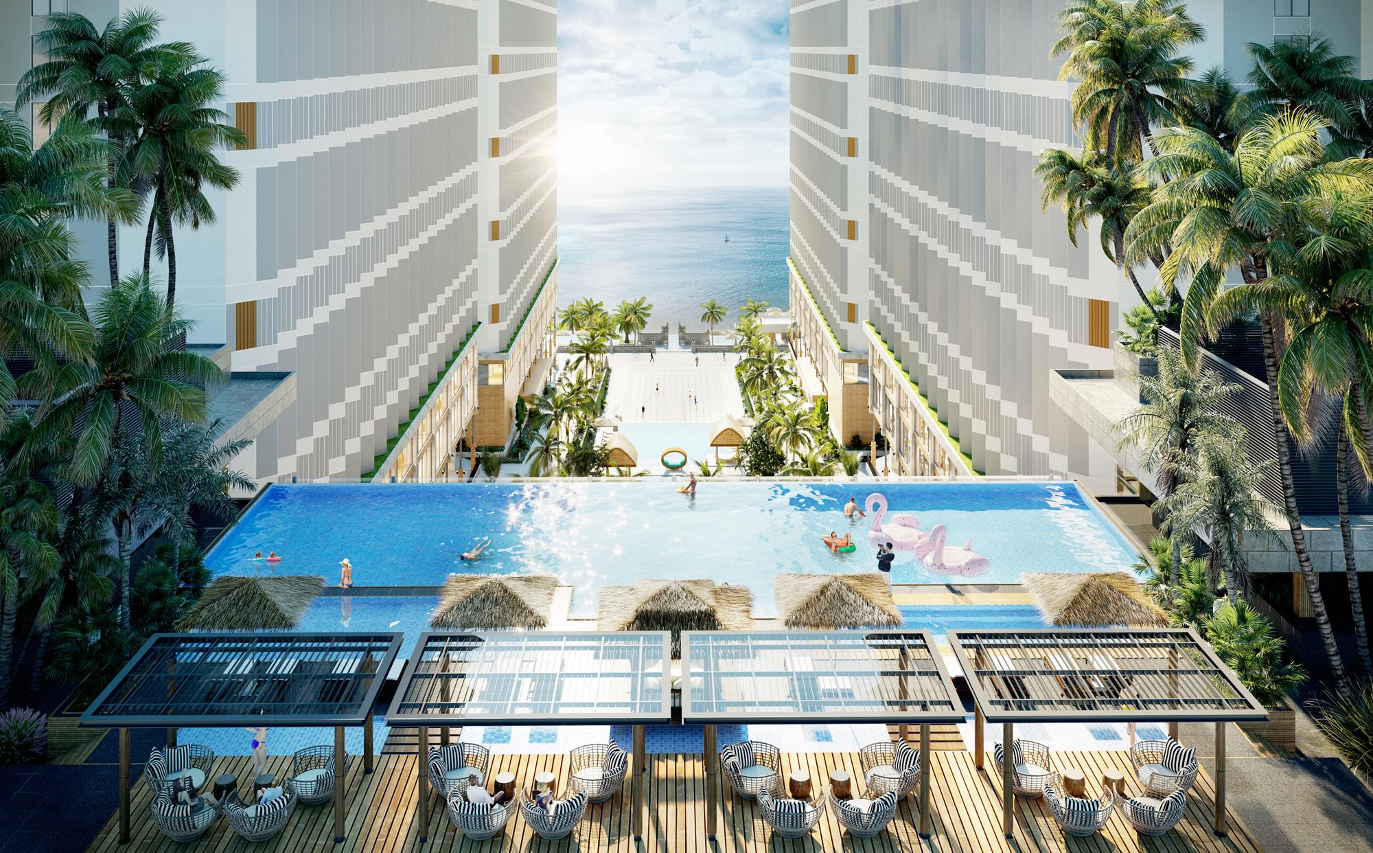 Không gian nghỉ dưỡng, giải trí tuyệt vời của Apec Mandala Wyndham Mũi Né