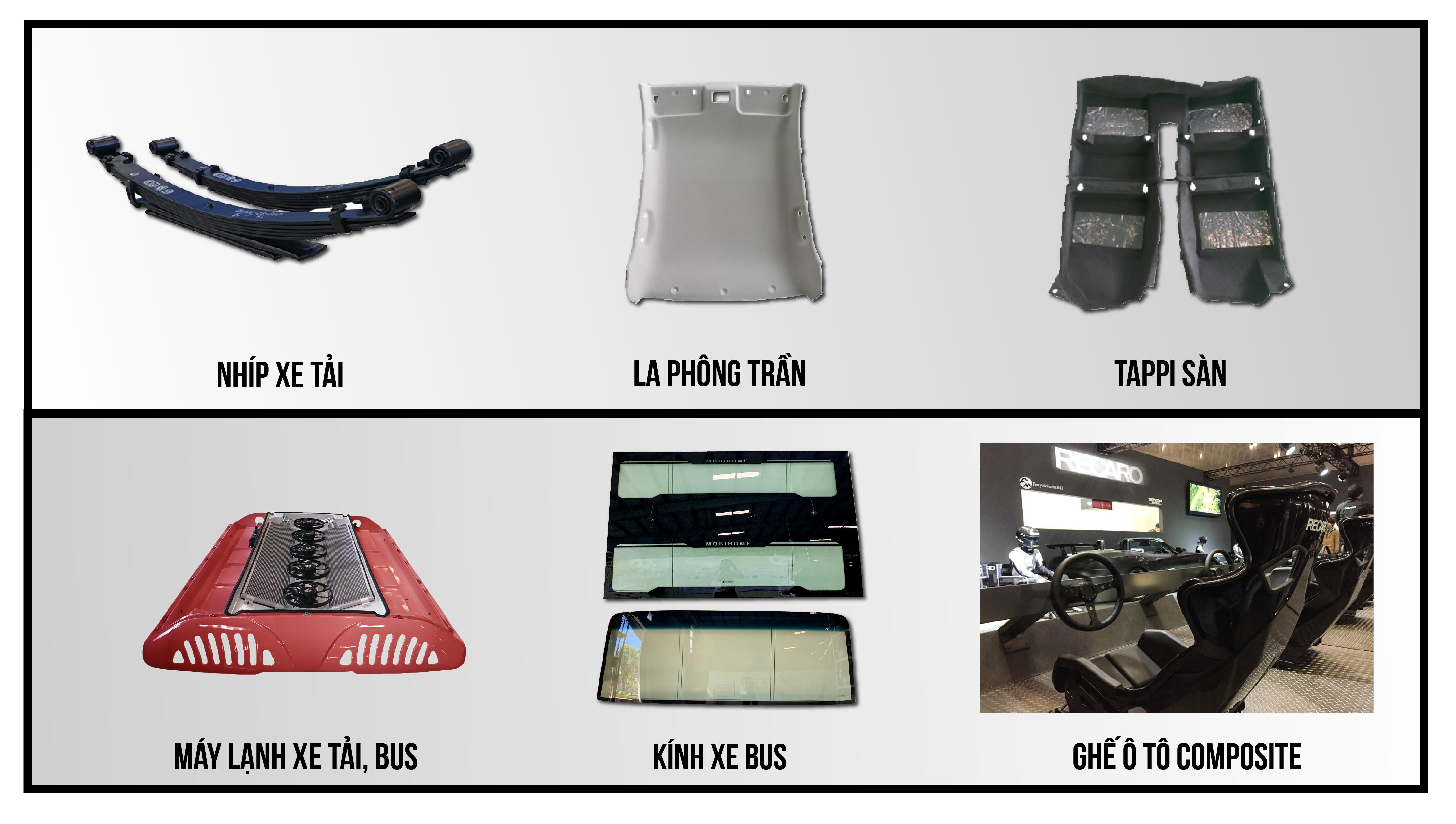 Một số sản phẩm linh kiện OEM do THACO cung cấp (2)