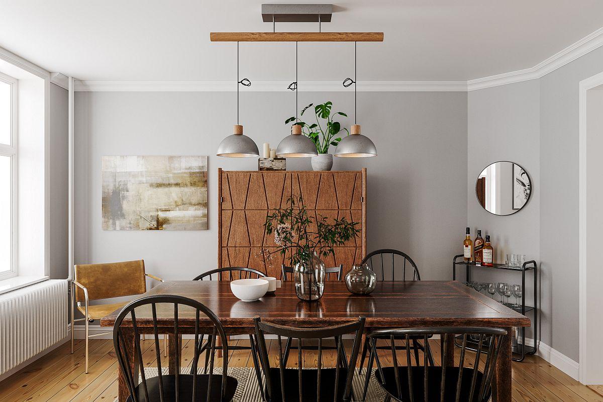 Các mẫu phòng ăn tối giản, tinh tế với màu sắc rực rỡ