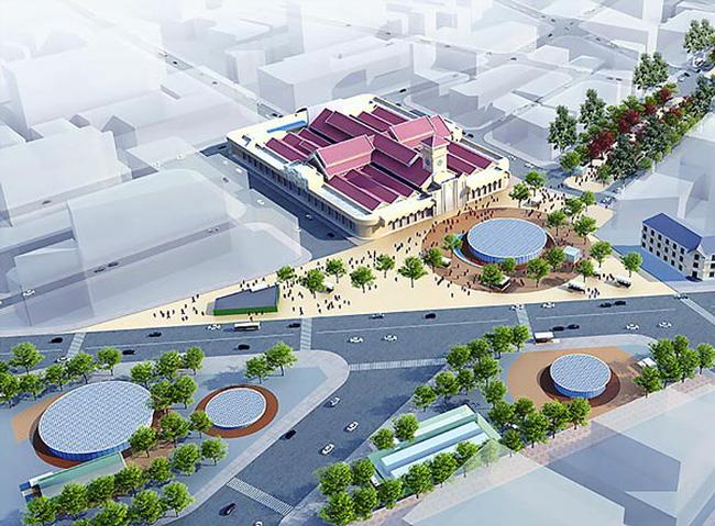 Phối cảnh vòng xoay Quách Thị Trang trở thành quảng trường trong tương lai (Ảnh: Ban Quản lý đường sắt đô thị Tp. HCM)