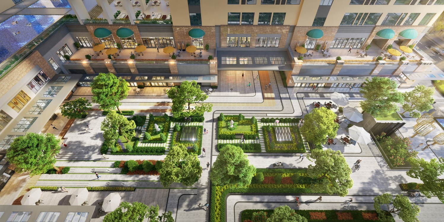 4.200m2 tại dự án The Grand Manhattan được sử dụng để kiến tạo mảng xanh