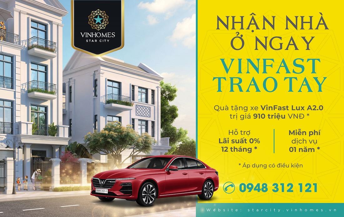 Vinhomes Star City Thanh Hóa tặng xe sang VinFast cho khách mua nhà