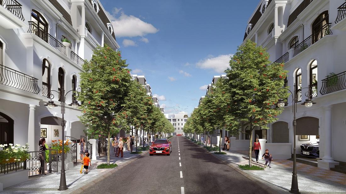 """Phân khu Hoa Hồng - những """"phố Âu"""" sang trọng trong trong lòng Vinhomes Star City Thanh Hóa."""
