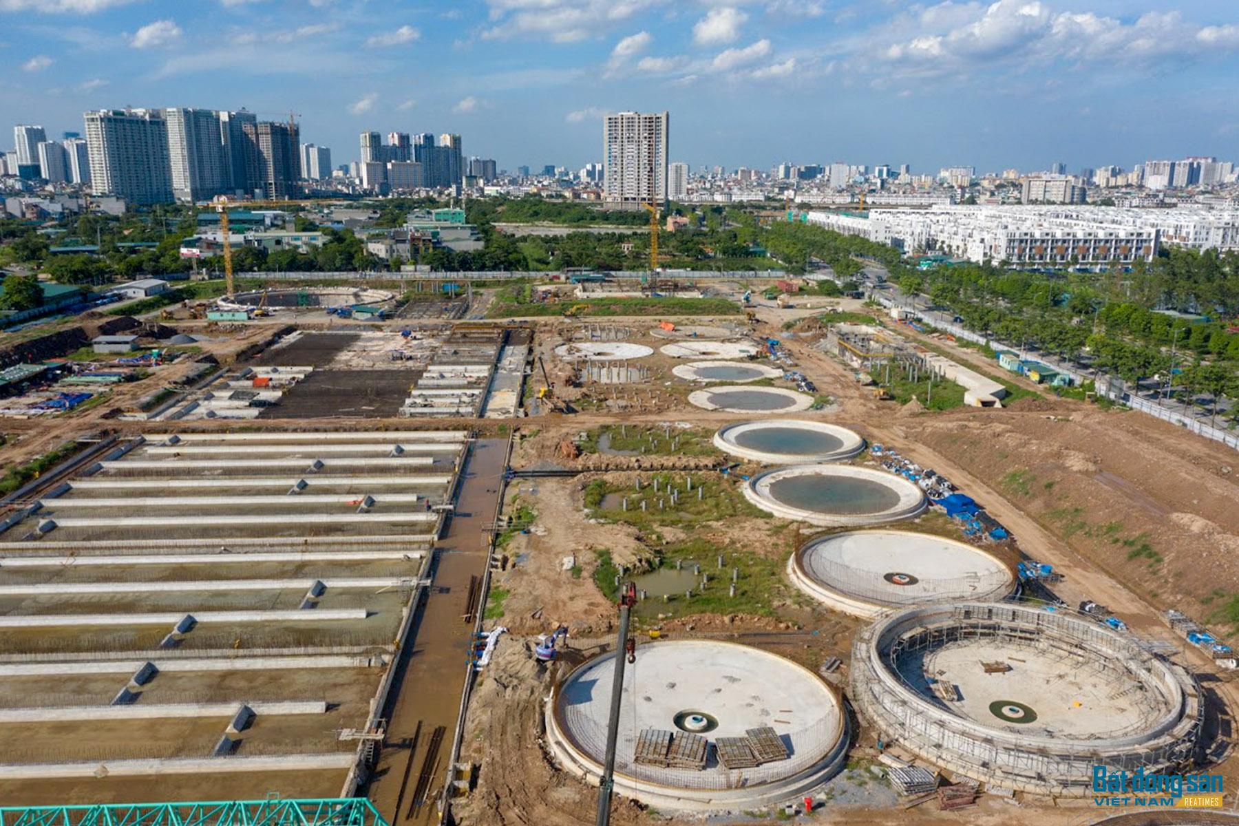 Toàn cảnh tiến độ dự án nhà máy xử lý nước thải lớn nhất miền Bắc