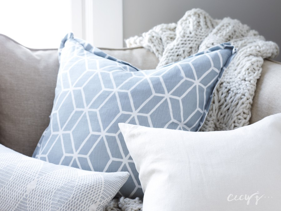 Một vật dụng rẻ tiền nhưng rất hữu ích khác để trang trí phòng khách của bạn là đệm.