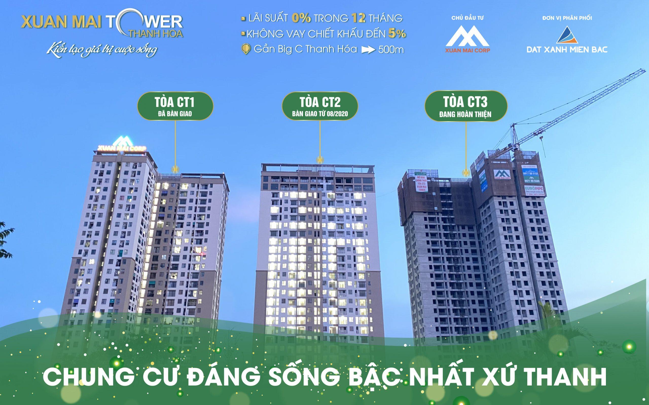 Tổ hợp căn hộ chung cư Xuân Mai Tower ra mắt giải tỏa cơn khát nguồn cung cho nhu cầu nhà ở chất lượng cao tại thị trường Thanh Hóa