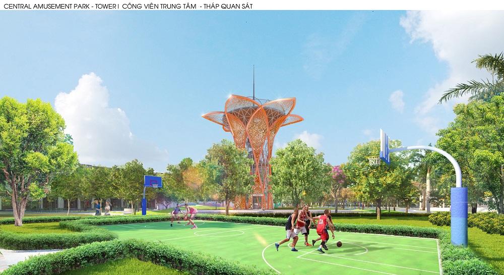 Đài quan sát có thiết kế độc đáo, cách điệu từ hoa hướng dương là điểm nhấn của Gem Sky Park