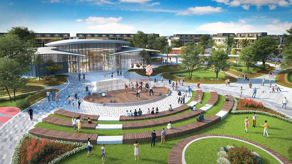 Nhà điều hành nối kết chặt chẽ với quảng trường sự kiện rộng lớn