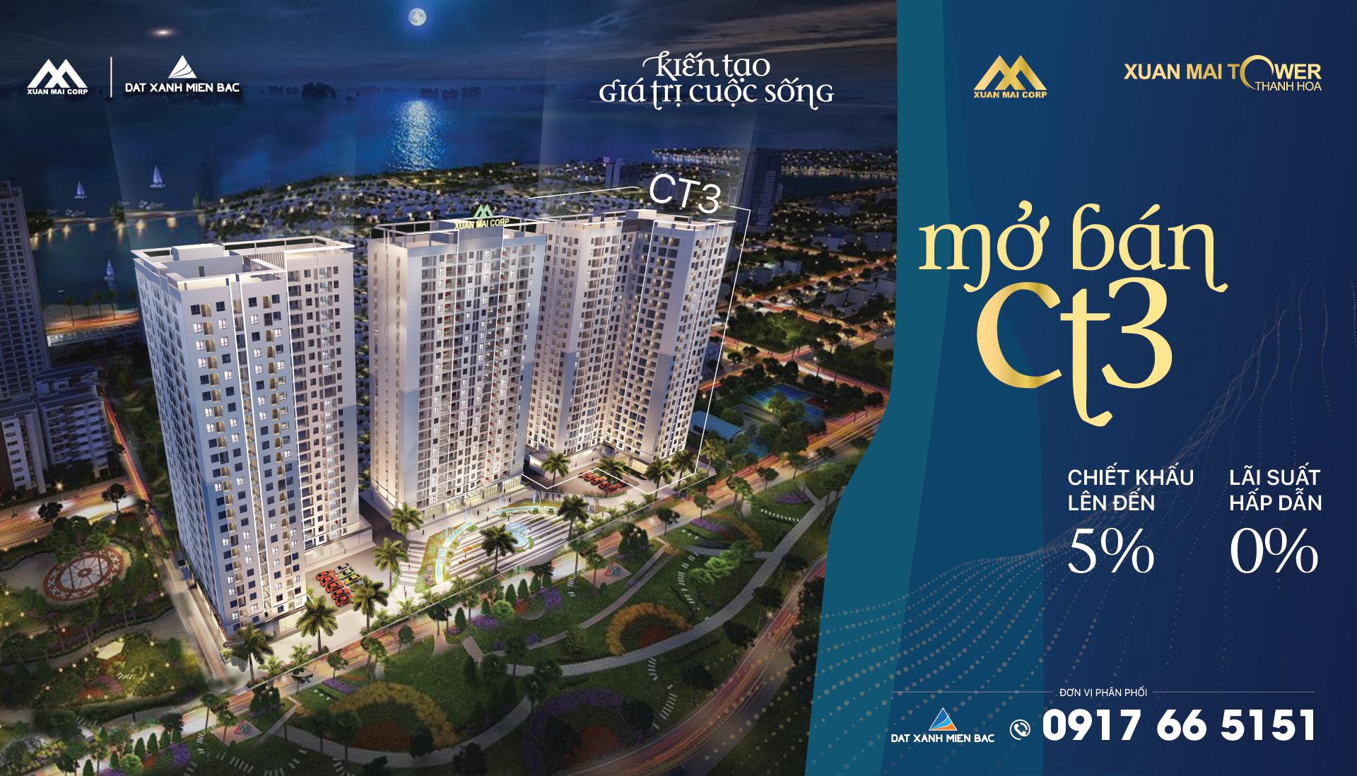 Ra mắt tòa CT3 - Cơ hội cuối cùng sở hữu căn hộ tại tổ hợp chung cư Xuân Mai Tower