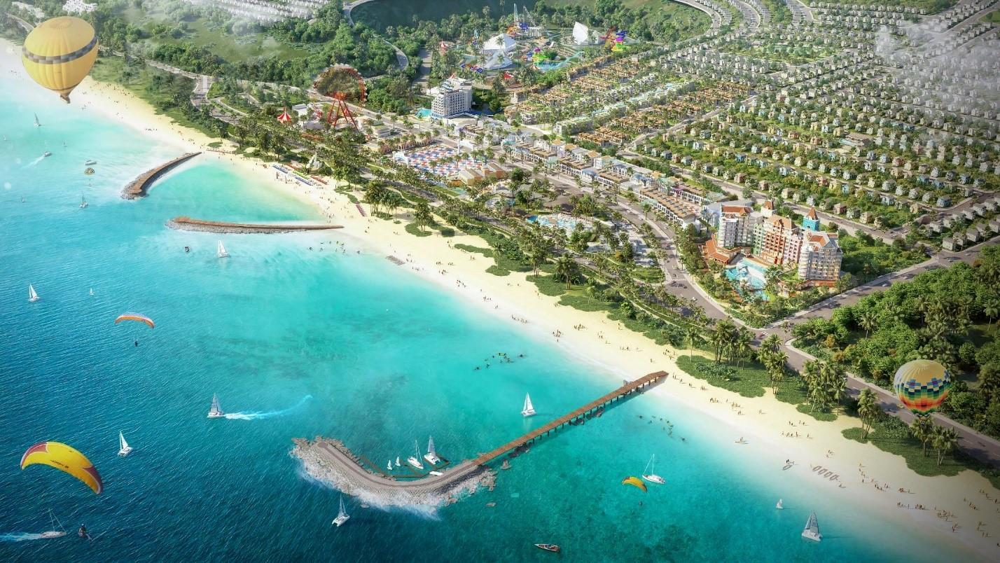 Phối cảnh Công viên biển tại NovaWorld Phan Thiet - Siêu thành phố biển - Du lịch - Sức khỏe
