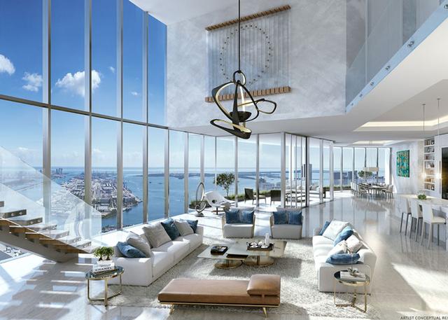 Các căn hộ Penthouse có lợi thế về tầm nhìn trên cao và không gian sang trọng