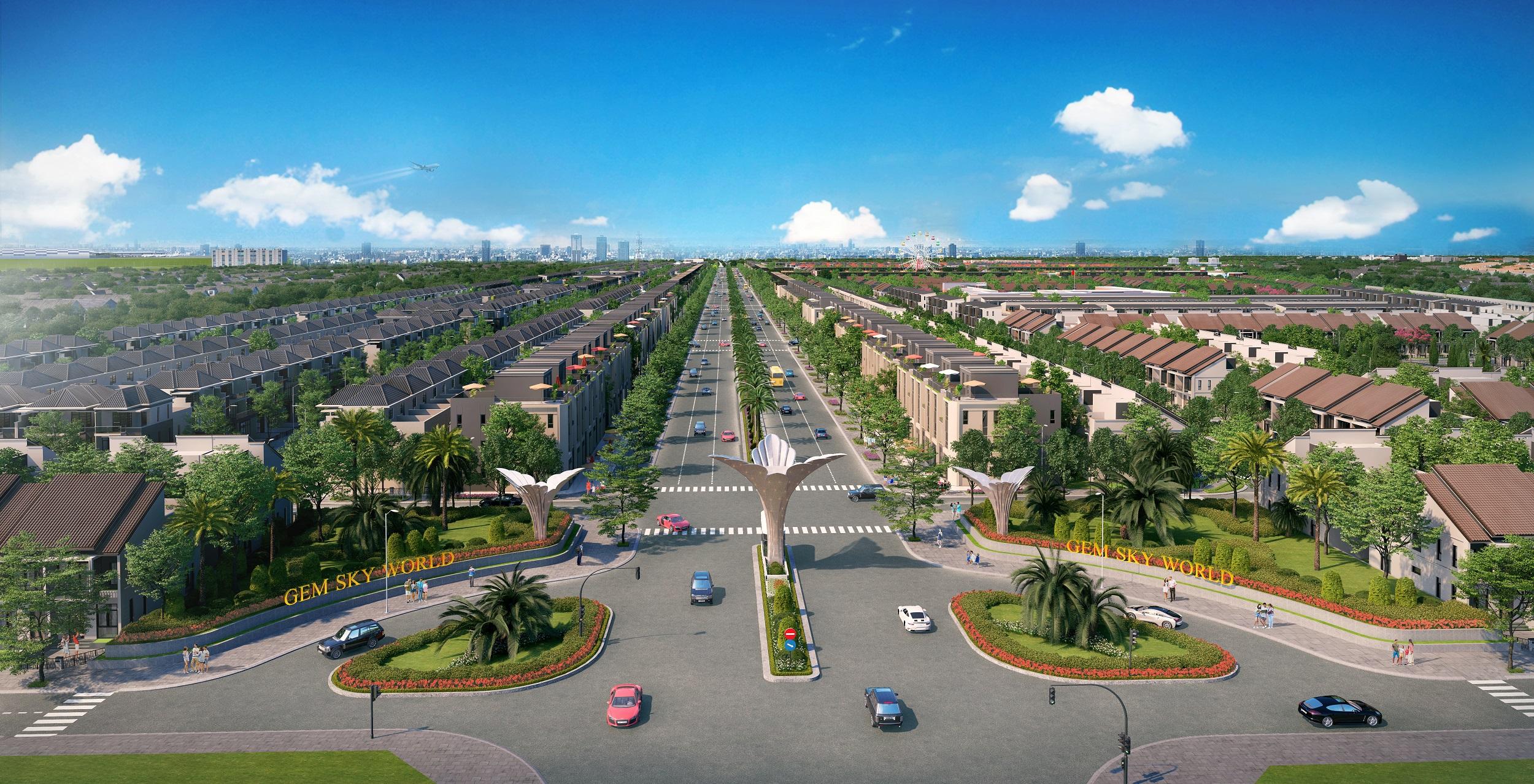 Quy hoạch đồng bộ, khoa học đã tạo nên diện mạo khang trang, hiện đại cho Khu đô thị Gem Sky World.