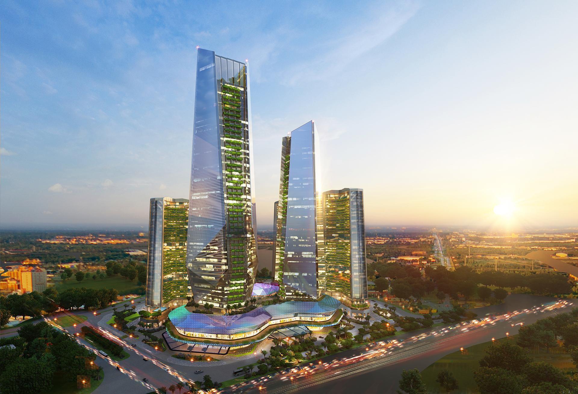Tổ hợp tháp Tài chính – Khách sạn – Trung tâm thương mại Sunshine Empire.
