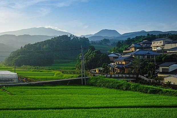 Nông thôn thanh bình tại Nhật.