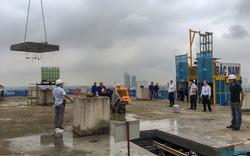 Hà Nội: Bắt đầu cắt mái tầng 18 tòa nhà 8B Lê Trực
